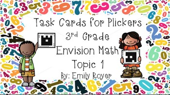 Envision Math Task Cards for Plickers: Topic 1