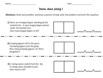 Envision Math Topic 1.6- Stories About Joining
