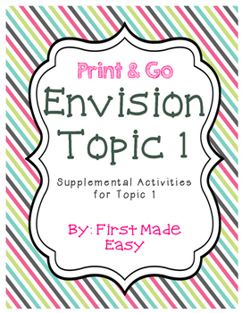 Envision Math Topic 1  Supplemental Activities - First Grade