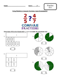 Envision Math-Topic 10-Fraction Comparison and Equivalence-Worksheets-3rd Grade