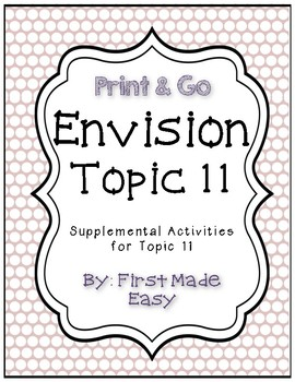 Envision Math Topic 11 Supplemental Activities First Grade