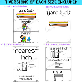 Envision Math 2.0 Topic 12 Vocabulary Cards ~ 2nd Grade