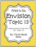 Envision Math Topic 13 Supplemental Activities-First Grade