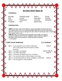 Envision Math Topic 16-20 Common Core/I Can Statements/Pla
