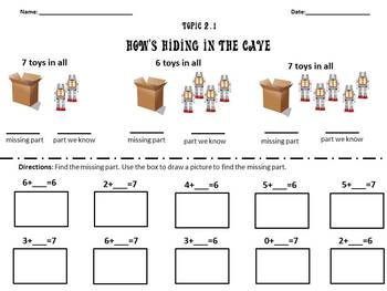 Envision Math Topic 2.1- Finding Missing Parts of 6 and 7