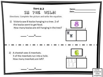 Envision Math Topic 2.5- Stories About Take Away