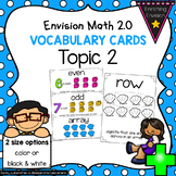 Envision Math 2.0 Topic 2 Vocabulary Cards ~ 2nd Grade