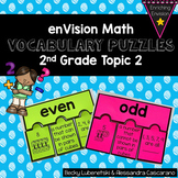 Envision Math 2.0 Topic 2 Vocabulary Puzzle Math Centers