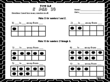 Envision Math Topic 3.2- Recognizing Numbers on a Ten-Frame