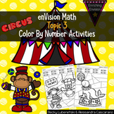 Envision Math Topic 3 Color By Number Activities 2nd Grade