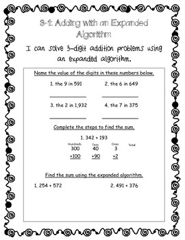 Envision Math Topic 3 Review - Third Grade