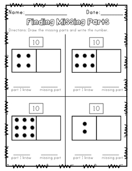 Envision Math Topic 3 Supplemental Activities - First Grade