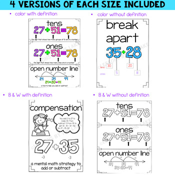 Envision Math Topic 3 Vocabulary Cards ~ 2nd Grade
