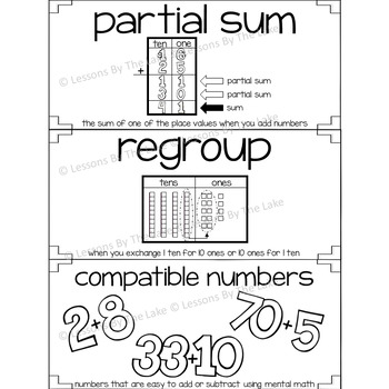 Envision Math Topic 4 Vocabulary Cards ~ 2nd Grade