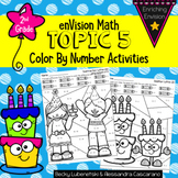 Envision Math Topic 5 Color By Number Activities 2nd Grade