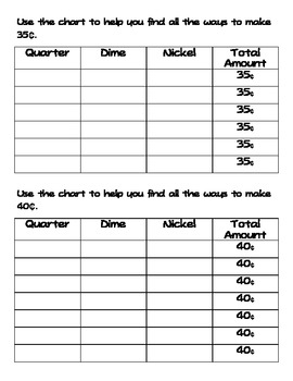 Envision Math Topic 5: Counting Money Extra Practice