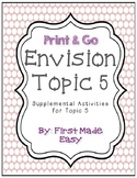Envision Math Topic 5 Supplemental Actvities - First Grade