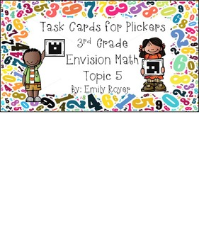 Envision Math Topic 5 Task Cards for Plickers
