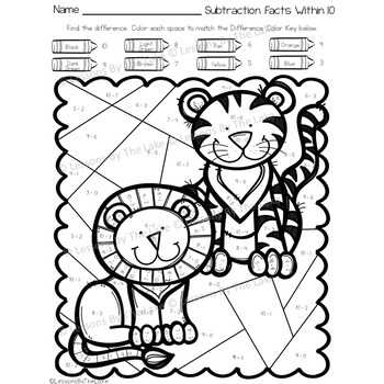 Envision Math 2 0 Topic 6 Color By Number Activities 2nd Grade Safari