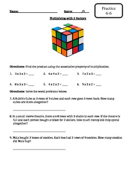 Envision Math - Topic 6 - Multiplication Facts - Extra Materials -3rd Grade