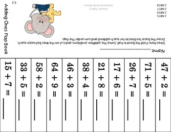 Envision Math Topic 6 Second Grade Using Mental Addition Common Core Aligned