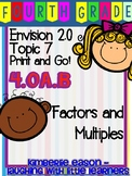 Envision Math Topic 7 Print and Go