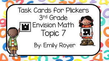 Envision Math Topic 7 Task Cards for Plickers