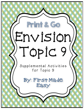 Envision Math Topic 9 Supplemental Activities - First Grade