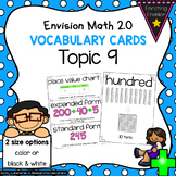 Envision Math 2.0 Topic 9 Vocabulary Cards ~ 2nd Grade