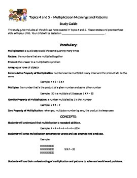 Envision Math Topics 4 and 5 Study Guide