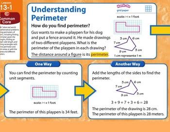Envision Math Unit 13- third grade