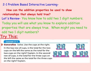 Envision Math Unit 2- 3rd grade