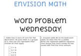 Envision Math Word Problems