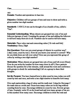Envision Math lesson Plan 8-3