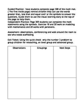 Envision Math lesson Plan 9-3 first grade