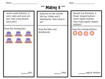Envision Math Topic 1.3- Making 8