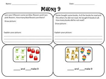 Envision Math Topic 1.4- Making 9