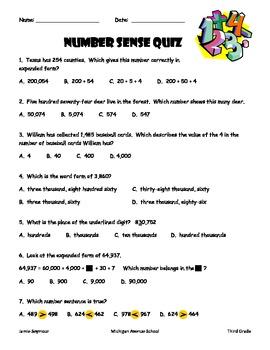 Envision Topic 1 Quiz---Number Sense