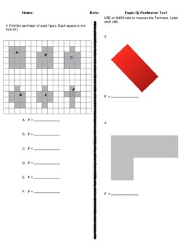 Envision Topic 13 Assessment: Perimeter