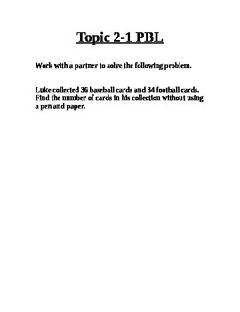 Envision Topic 2 PBLs
