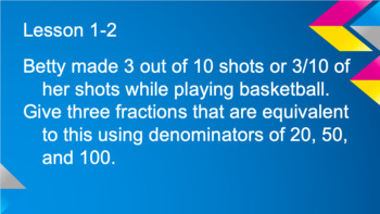 Envision Topics 1-6 Problem of the Day- 5th Grade