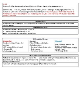 Envision math 2.0 grade 4 topic 8-3 Lesson plan