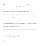 Envision's 2.0 Topic 7 Review Sheet (1st Grade)