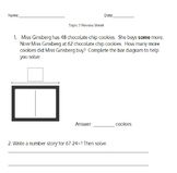 Envision's 2.0 Topic 7 Review Sheet (2nd Grade)