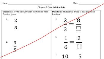 Envisionmath Grade 4 Topic 8 Quiz 1 (8-1 to 8-4) & Answer Key