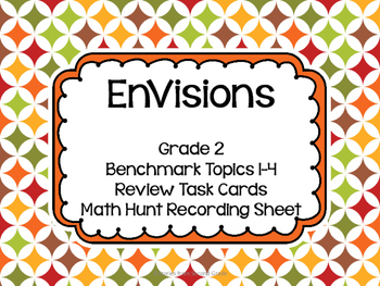 Envisions Benchmark Topics 1-4 Review Cards Grade 2