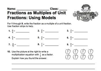 enVision Fourth Grade Math Topic 13 Homework Sheets