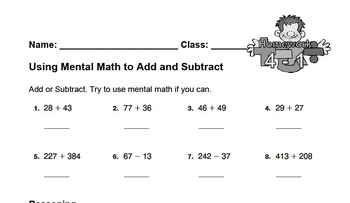enVision Fourth Grade Math Topic 4 Homework Sheets