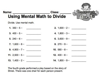 enVision Fourth Grade Math Topic 9 Homework