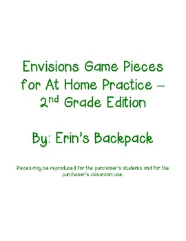 Envisions Game Pieces - 2nd Grade